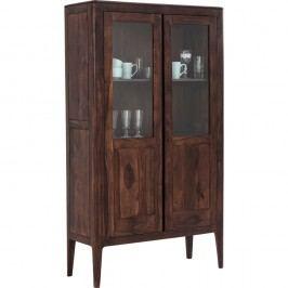 Ručně vyráběná dvoudveřová vitrína ze dřeva sheesham Kare Desgin Brooklyn Walnut
