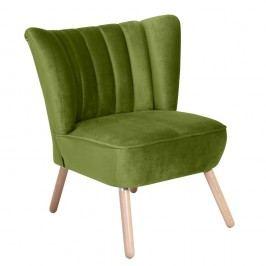 Zelené křeslo Max Winzer Alessandro Suede