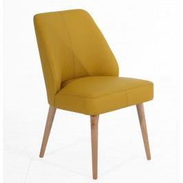 Žlutá čalouněná židle Max Winzer Todd