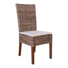 Šedá ratanová židle House Nordic Rio