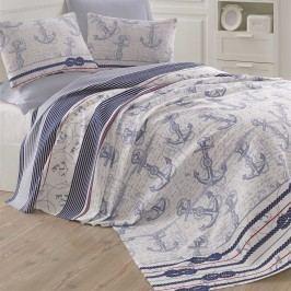 Modrošedý lehký přehoz přes postel Capa Blue, 200x235cm