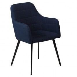 Tmavě modrá jídelní židle s područkami DAN–FORM Denmark Embrace