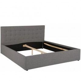 Šedá dvoulůžková postel Støraa Ajay, 180x200cm