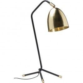Černo-zlatá stolní lampa Kare Design Knit