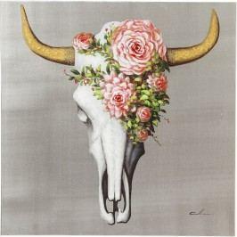 Obraz Kare Design Touched Flower Skull, 80x80cm