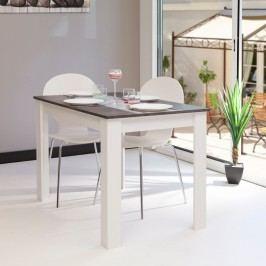 Bílošedý jídelní stůl Symbiosis Jaune