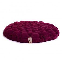 Cyklamenově růžový sedací polštářek s masážními míčky Linda Vrňáková Bloom, Ø75cm