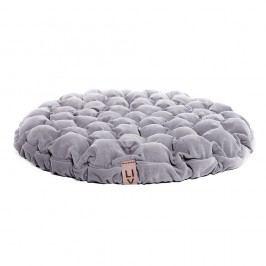 Světle modrošedý sedací polštářek s masážními míčky Linda Vrňáková Bloom, ⌀75cm