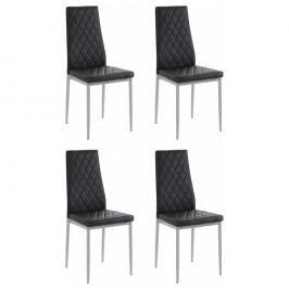 Sada 4 černých židlí Støraa Barak