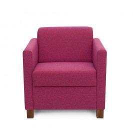 Růžovofialové křeslo Softnord Topaz