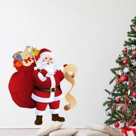 Vánoční samolepka Ambiance Santa Claus and Gift List