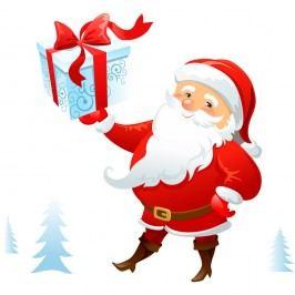 Vánoční samolepka Ambiance Santa Claus Lapland