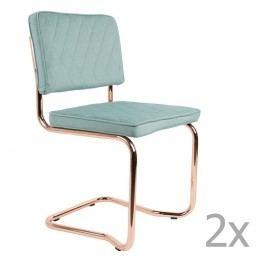 Sada 2 světle modrých židlí Zuiver Diamond Kink