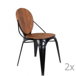 Sada 2 černých židlí Zuiver Louix
