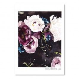 Plakát Americanflat Blooms on Black V by Claudia Libenberg,30x42cm