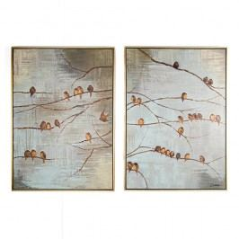 Sada 2 ručně malovaných obrazů Graham & Brown Birds