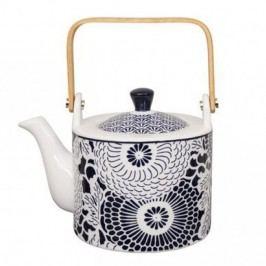 Modro-bílá porcelánová čajová konvice Tokyo Design Studio Shiki,800ml