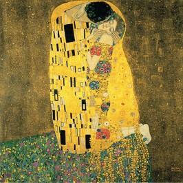 Reprodukce obrazu Gustav Klimt - The Kiss, 30x30cm