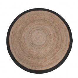 Jutový koberec s černým okrajem LABEL51 Rug, Ø150 cm