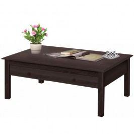 Tmavě hnědý konferenční stolek z borovicového dřeva Støraa Lando Harry