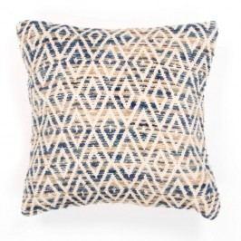 Modrý vzorovaný polštář Tiseco Home Studio Diamond, 45x45cm