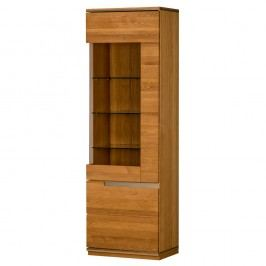 Dvoudveřová vitrína z dubového dřeva s panty na levé straně Szynaka Meble Torino