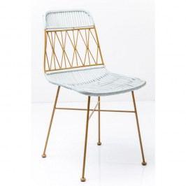 Žluto-bílá jídelní židle Kare Design Ko Samui