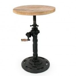 Černá stolička se sedákem z mangového dřeva LABEL51 Gautan