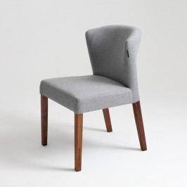 Šedá židle s hnědými nohami Custom Form  Harvard