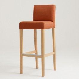 Oranžová barová židle s přírodními nohami Custom Form Wilton
