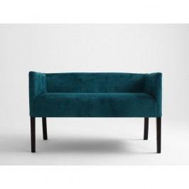 Tyrkysová lavice s tmavě hnědými nohami Custom Form Poter