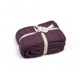 Tmavě fialová deka Hannah, 220 x 240 cm