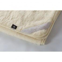 Béžová deka z merino vlny Royal Dream,220x200cm