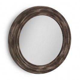 Hnědé nástěnné zrcadlo Geese, Ø67cm