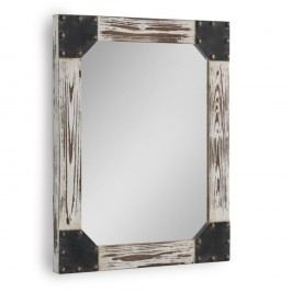 Bílé nástěnné zrcadlo Geese Washed, 57x70cm
