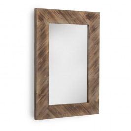 Hnědé nástěnné zrcadlo Geese, 80x121cm