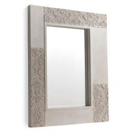 Bílé nástěnné zrcadlo Geese Pattern, 100x80cm