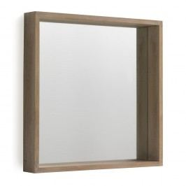 Nástěnné zrcadlo ze dřeva paulovnie Geese Pure, 60x60cm