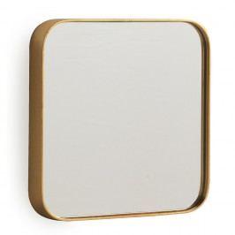 Nástěnné zrcadlo ve zlaté barvě Geese Pure, 40x40cm