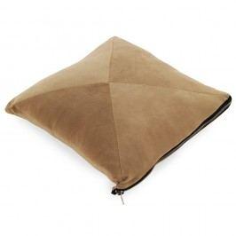Světle hnědý polštář Geese Soft, 45x45cm