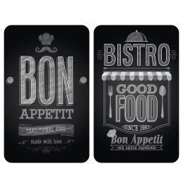 Sada 2 skleněných krytů na sporák Wenko Bon Appetit,52x30cm