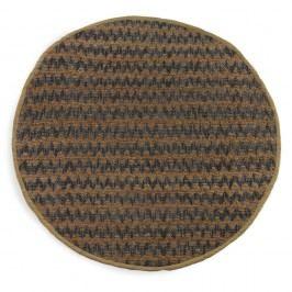 Modro-hnědý koberec Geese Mumbai, Ø 180 cm