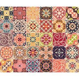 Sada 30 nástěnných samolepek Ambiance Cement Tiles La Valette, 10 x 10 cm