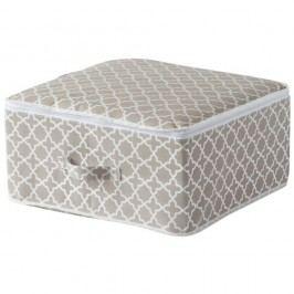 Béžový úložný box se zipem Compactor, délka 46cm