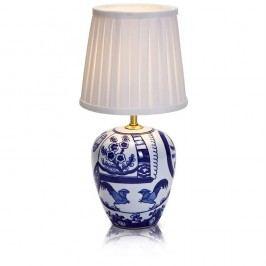Malá modro-bílá stolní lampa Markslöjd Goteborg