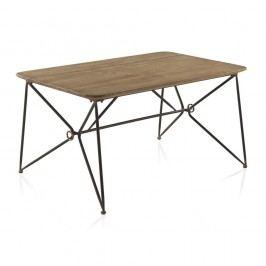 Jídelní stůl s kovovou konstrukcí a dřevěnou deskou Geese, 150 x 90 cm