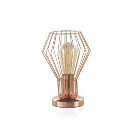 Kovová stolní lampa v měděné barvě Geese, výška 25 cm