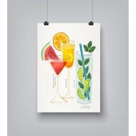 Plakát Americanflat Summer Cocktails,30x42cm