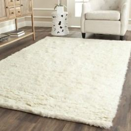 Bílý vlněný koberec Royal Dream Pure Light,70x140cm