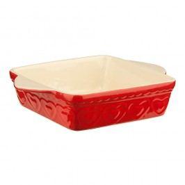 Červená zapékací kameninová mísa Premier Housewares Sweet Heart, 22x31cm